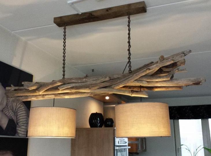 Lampen hout design - Deco oud huis met balk ...